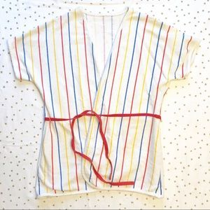 VINTAGE 80s Cover Up or short lounge robe / top